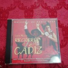 CDs de Música: CARNAVAL DE CÁDIZ CD CORO RECUERDO DE CADIZ. Lote 244827845