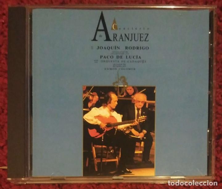 CONCIERTO DE ARANJUEZ (PACO DE LUCIA & JOAQUIN RODRIGO) CD 1991 (Música - CD's Flamenco, Canción española y Cuplé)