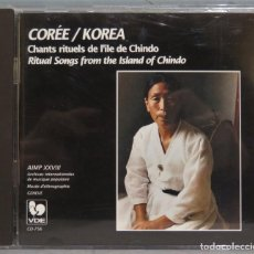 CDs de Música: CD. KOREA. RITUAL SONGS FROM THE ISLAND OF CHINDO. Lote 244926170