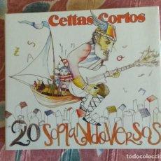 CDs de Música: CELTAS CORTOS 20 SOPLANDO VERSOS 2 CD + DVD 2006. Lote 244936515