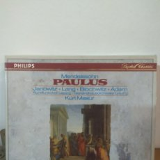 CDs de Música: MENDELSOHN - PAULUS - KURT MASUR. Lote 245072525