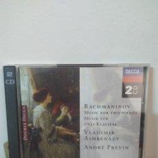 CDs de Música: RACHMANINOV - PREVIN - ASHKENAZY. Lote 245075420