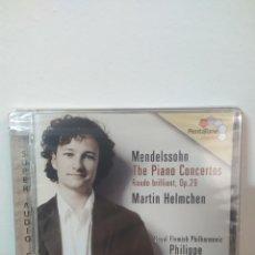 CDs de Música: MENDELSOHN - PIANO CONCERTOS - PENTATONE. Lote 245076750