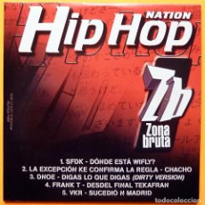 CDs de Música: SFDK + DNOE + FRANK T + VKR + 1 - SINGLE CD PROMO - 5 TEMAS - HIP HOP NATION 33 - 2002 - NUEVO. Lote 245090090