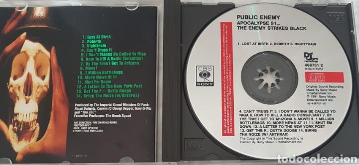 CDs de Música: CD PUBLIC ENEMY - APOCALYPSE 91...EDICIÓN ESPAÑOLA! HIP HOP RAP - Foto 3 - 245096795