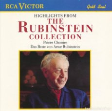CDs de Música: CD - 1989 - ARTUR RUBINSTEIN - HIGHLIGHT FROM THE RUBINSTEIN COLLECTION - 1 CD. Lote 245162805