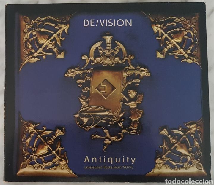 CD DE/VISION - ANTIQUITY UNRELEASED TRACKS 90-92. RAREZAS. SYNTH POP, TECNO POP (Música - CD's Techno)
