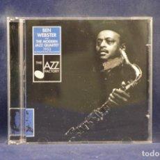 CDs de Música: BEN WEBSTER AND THE MODERN JAZZ QUARTET - 1953 AN EXCEPTIONAL ENCOUNTER - CD. Lote 245197125