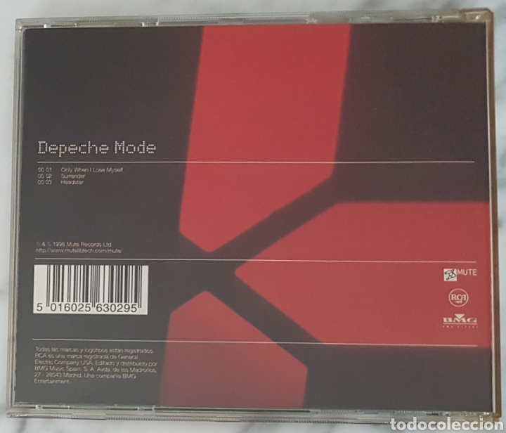 CDs de Música: CD DEPECHE MODE - ONLY WHEN I LOSE MYSELF. SYNTH POP, GAHAN, MARTIN GORE - Foto 3 - 245216090