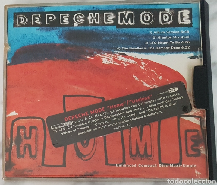 CD DEPECHE MODE -HOME/ USELESS. CAJA ESPECIAL (Música - CD's Techno)