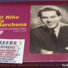 CDs de Música: EL NIÑO DE MARCHENA - PRIMERAS GRABACIONES 1924 - 1934 - CD + LIBRETO. Lote 245264585