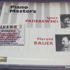 CDs de Música: IGNAZ PADEREWSKI / HAROLD BAUER - THE PIANO MASTERS - 2X CD. Lote 245271370