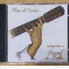 CDs de Música: PACO DE LUCIA (INTERPRETA A MANUEL DE FALLA) CD 1995. Lote 245290925