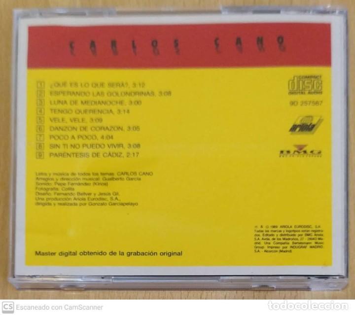 CDs de Música: CARLOS CANO (A TRAVES DEL OLVIDO) CD 1989 - Foto 2 - 245291880
