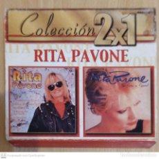 CDs de Música: RITA PAVONE (PAVONEANDOSE - SUS EXITOS EN ESPAÑOL) 2 CD'S 2000 SERIE COLECCIÓN 2 X 1. Lote 245292890
