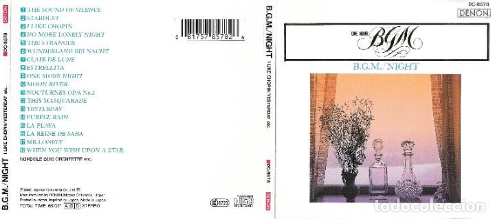 B.G.M. / NIGHT (Música - CD's Melódica )