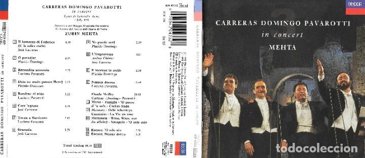 CARRERAS DOMINGO PAVAROTTI IN CONCERT (Música - CD's Clásica, Ópera, Zarzuela y Marchas)