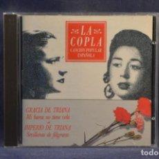 CDs de Música: GRACIA DE TRIANA / IMPERIO DE TRIANA - MI BARCA NO TIENE VELA / SEVILLANAS DE FILIGRANA - CD. Lote 245367635