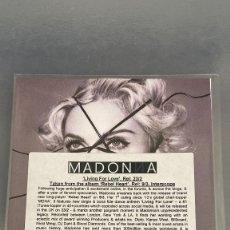 CDs de Música: MADONNA LIVING FOR LOVE PROMO CD MUY RARO. Lote 245368185