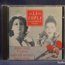 CDs de Música: MARIÁN CONDE / MARÍA JOSÉ SANTIAGO - TE LO JURO YO / REVUELO DE CANCIONES - CD. Lote 245368680