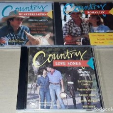 CDs de Música: LOTE 3 CD- COUNTRY - MADE IN HOLLAND - COUNTRY HEARTBREAKERS / COUNTRY ROMANCIN / COUNTRY LOVE SONG. Lote 245372590