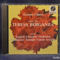 "CDs de Música: TERESA BERGANZA / GÉNERO CHICO - A ""GÉNERO CHICO"" CONCERT WITH TERESA BERGANZA - CD. Lote 245394300"