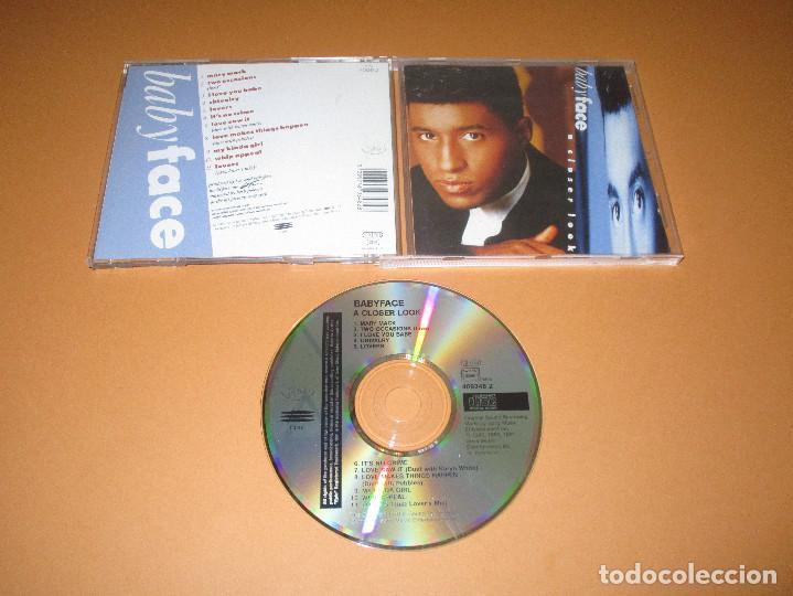 BABYFACE ( A CLOSER LOOK ) - CD - 469348 2 - EPIC - I LOVE YOU BABE - MY KINDA GIRL - LOVERS ... (Música - CD's Hip hop)