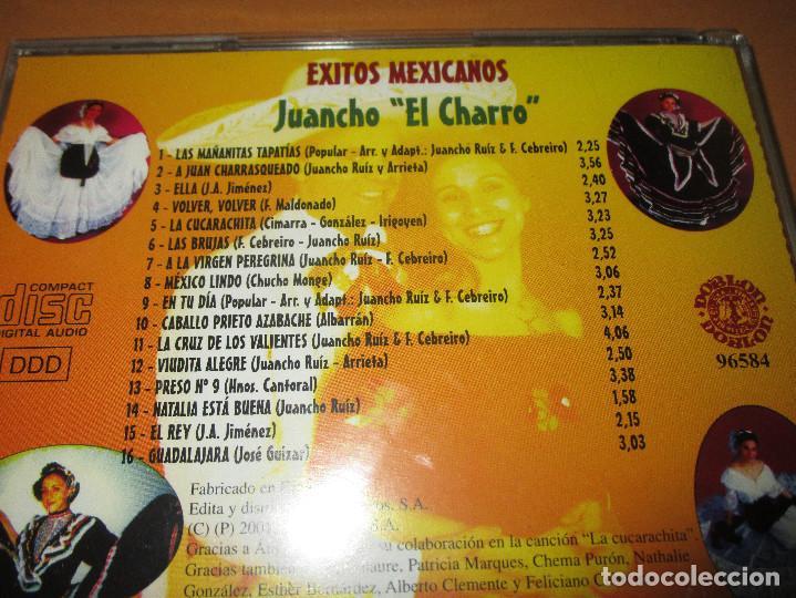 CDs de Música: EXITOS MEXICANOS ( JUANCHO EL CHARRO ) - CD - 96584 - LAS MAÑANITAS - VOLVER VOLVER - EL REY ... - Foto 4 - 245448200