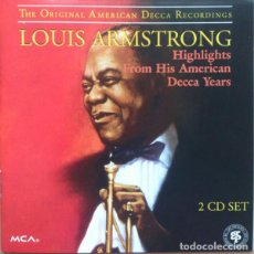 CDs de Música: LOUIS AMSTRONG - HIGHLIGHTS FROM HIS AMERICAN DECCA YEARS (2CD). Lote 245454875