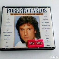 CDs de Música: DOBLE CD ROBERTO CARLOS - TODOS SUS GRANDES EXITOS. Lote 245493540
