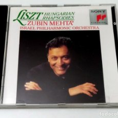 CDs de Música: CD LISZT HUNGARIAN RHAPSODIES - ZUBIN MEHTA. Lote 245494065