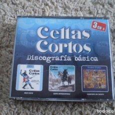 CDs de Música: TRIPLE CD. CELTAS CORTOS. DISCOGRAFIA BASICA. LIBRETO. BUENA CONSERVACION. Lote 245531830