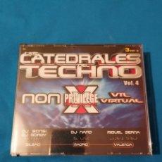 CDs de Música: LAS CATEDRALES DEL TECHNO VOL.4 PRECINTADO 3CD DJ NANO MIGUEL SERNA. Lote 245562440