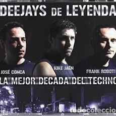 CDs de Música: DEEJAYS DE LEYENDA (LA MEJOR DÉCADA DEL TECHNO) 3 CD. Lote 245568405