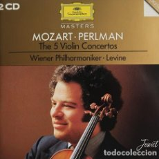 CDs de Música: MOZART THE 5 VIOLIN CONCERTOS (2 CD'S). Lote 245633285