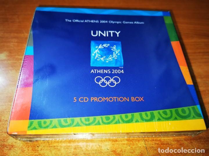 UNITY ATHENS 2004 BOX SET PRECINTADO 5 CD'S PROMO 2004 TREVOR HORN BRIAN ENO LENNY KRAVITZ MACY GRAY (Música - CD's Bandas Sonoras)