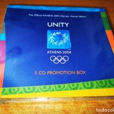 CDs de Música: UNITY ATHENS 2004 BOX SET PRECINTADO 5 CD'S PROMO 2004 TREVOR HORN BRIAN ENO LENNY KRAVITZ MACY GRAY. Lote 245640985