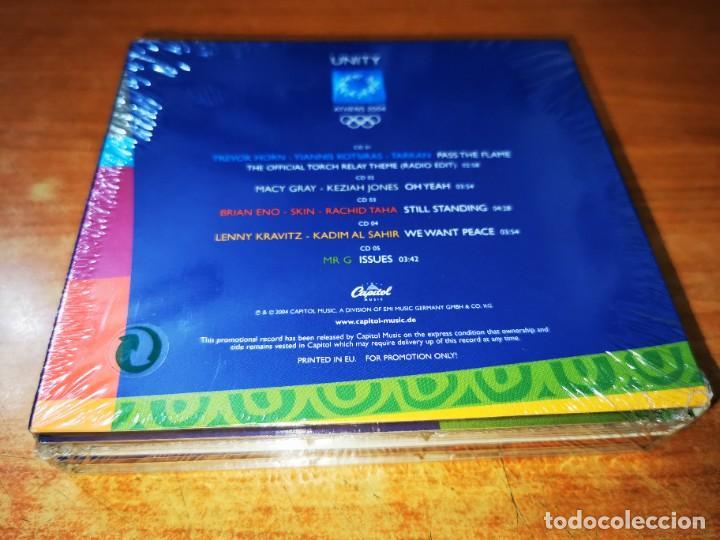 CDs de Música: UNITY ATHENS 2004 BOX SET PRECINTADO 5 CDS PROMO 2004 TREVOR HORN BRIAN ENO LENNY KRAVITZ MACY GRAY - Foto 2 - 245640985