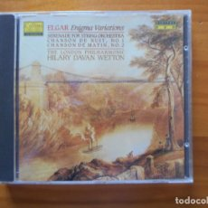 CDs de Música: CD ELGAR: ENIGMA VARIATIONS, ETC. - THE LONDON PHILHARMONIC - HILARY DAVAN-WETTON (W3). Lote 245643545