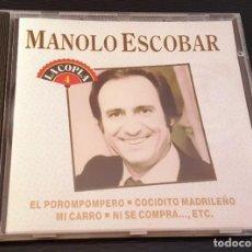 CDs de Música: MANOLO ESCOBAR CD LA COPLA 4 EL POROMPOMPERO Y TRECE TEMAS MÁS. Lote 245644865
