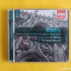 CDs de Música: BACH - SR DAVID WILLCOCKS 2 CD EMI MUSICA. Lote 245645425