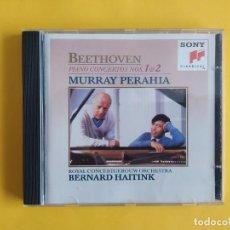 CDs de Música: BEETHOVEN - PIANO CONCERTOS 1 & 2 MURRAY PERAHIA CD SONY MUSICA. Lote 245646800
