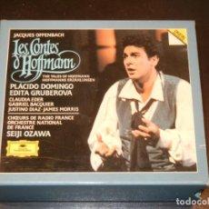 CDs de Música: OFFENBACH - LES CONTES D'HOFFMANN - DOMINGO, GRUBEROVA, OZAWA - DEUSTCHE GRAMMOPHON - 2 CD. Lote 245649905