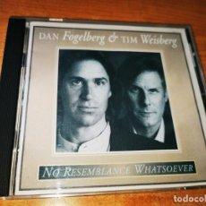 CDs de Música: DAN FOGELBERG & TIM WEISBERG NO RESEMBLANCE WHA CD ALBUM DEL AÑO 1995 USA CONTIENE 10 TEMAS. Lote 245653640