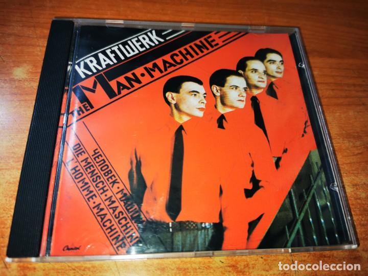 KRAFTWERK THE MAN MACHINE PRIMERA EDICION CD ALBUM DEL AÑO 1986 UK CONTIENE 10 TEMAS MUY RARO (Música - CD's Techno)