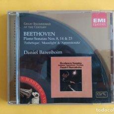 CDs de Música: BEETHOVEN - PIANO SONATAS NOS 8, 14 & 23 DANIEL BARENBOIM CD EMI MUSICA. Lote 245676085