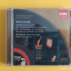 CDs de Música: WAGNER - HERBERT VON KARAJAN CD EMI MUSICA. Lote 245708350