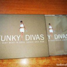 CDs de Música: FUNKY DIVAS THE VERY BEST IN SOUL DANCE AND R & B - 2 CD KYLIE MINOGUE JENNIFER LOPEZ AALIYAH. Lote 245714540
