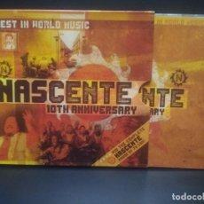 CDs de Música: NASCENTE THE BEST IN WORLD MUSIC CD 10 TH ANIVERSARY CON LIBRETO PEPETO. Lote 245719505