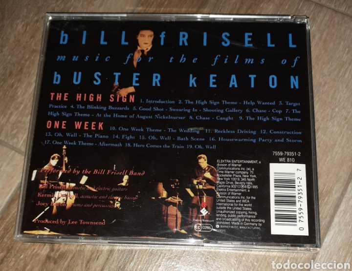 CDs de Música: Bill Frisell, the high sign/one week. Buster Keaton - Foto 2 - 245745540
